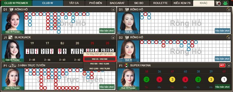 Hướng dẫn cách chơi bài blackjack tai w88
