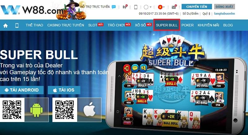 Game Super Bull tại nhà cái W88
